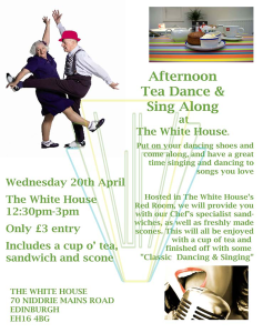 Tea Dance April Chronicle Poster